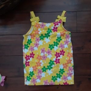 Gymboree girls Spring Flower Tan Top sz 9